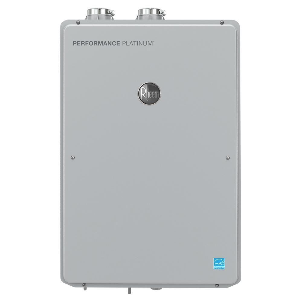 Rheem Performance Platinum 9 5 Gpm Liquid Propane High Efficiency Indoor Smart Tankless Water Heater Water Heating Home Depot Plumbing
