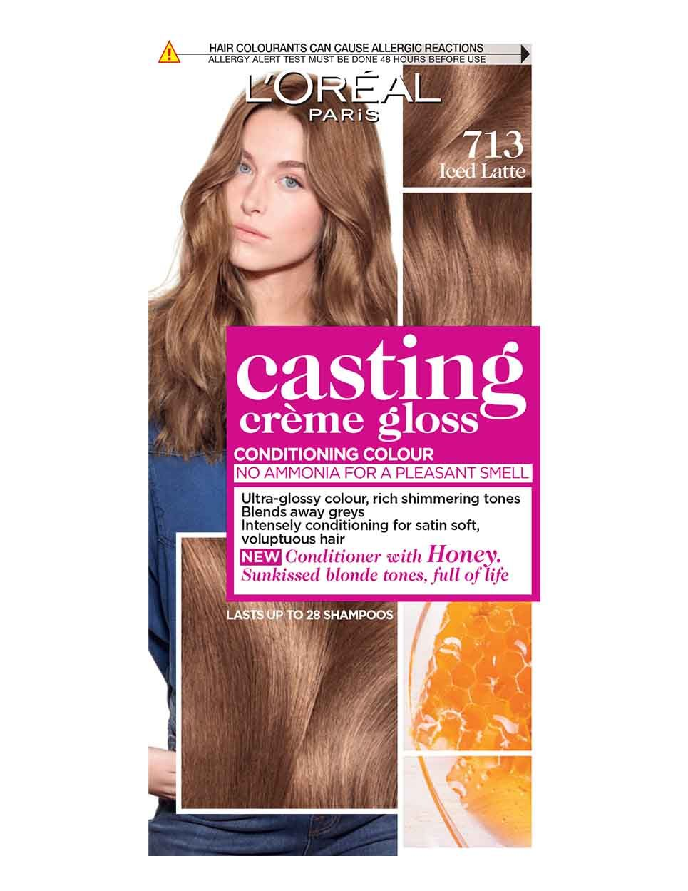 Embrace Glossy Glowing Hair Colour With Casting Creme Gloss Iced Latte The Semi Permanent Conditioning Colour With No Ammonia From L Oreal Paris