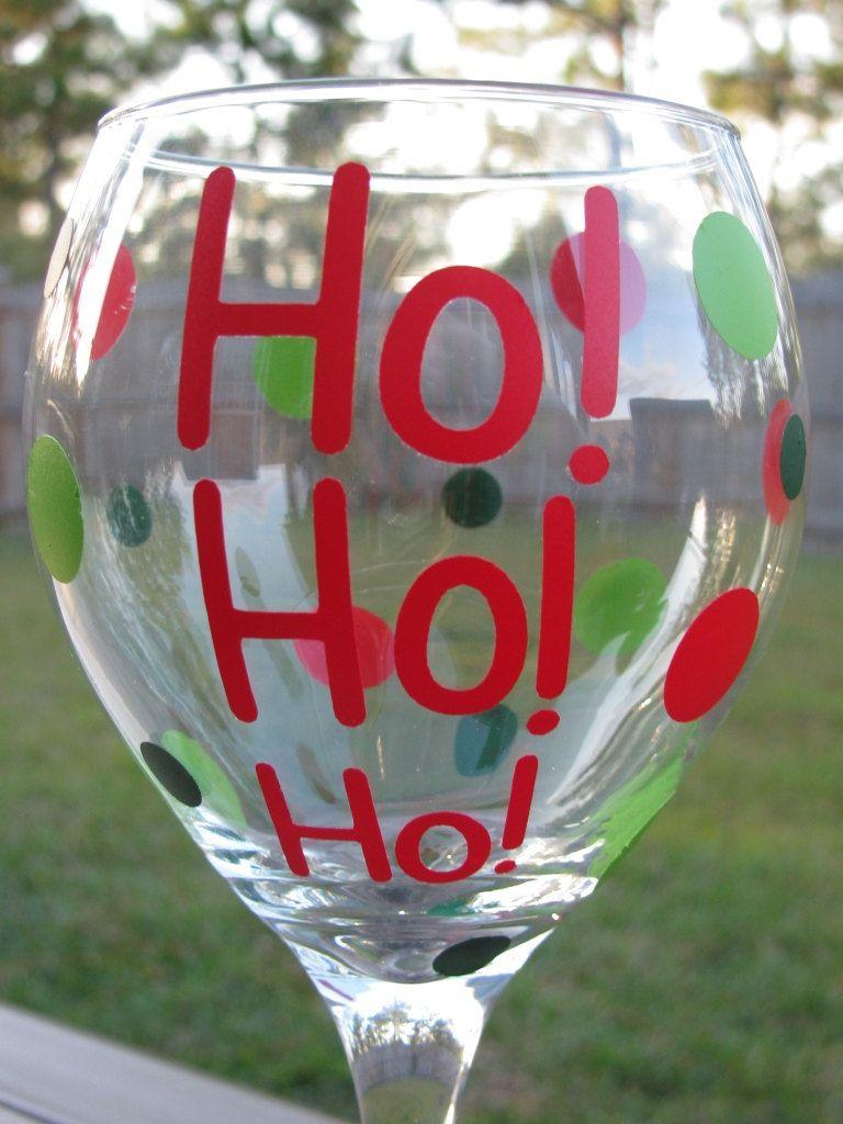 Pin By Jennifer On Cricut Christmas Wine Glasses Painted Wine Glasses Holiday Christmas Wine Glasses Diy