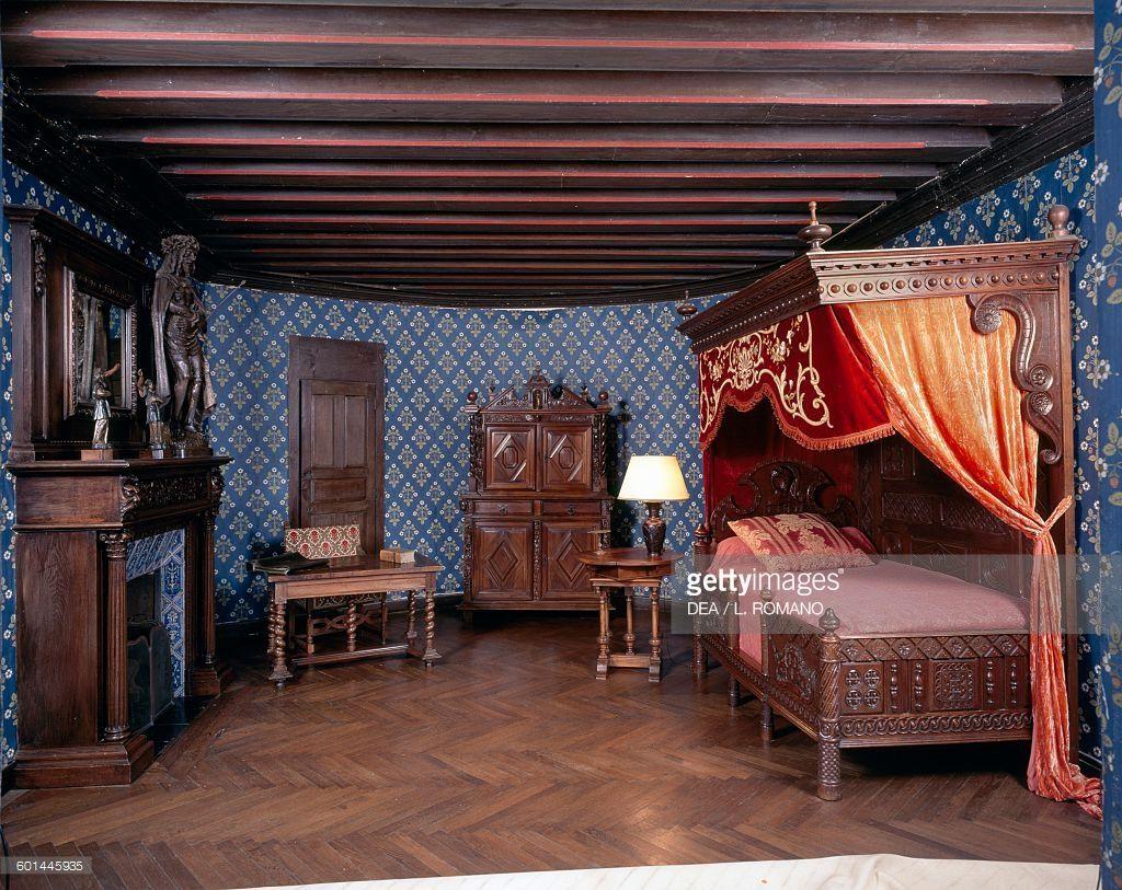 Renaissance Bedroom Furniture 15th Century Royal Bedchamber Chateau De Langeais Renaissance