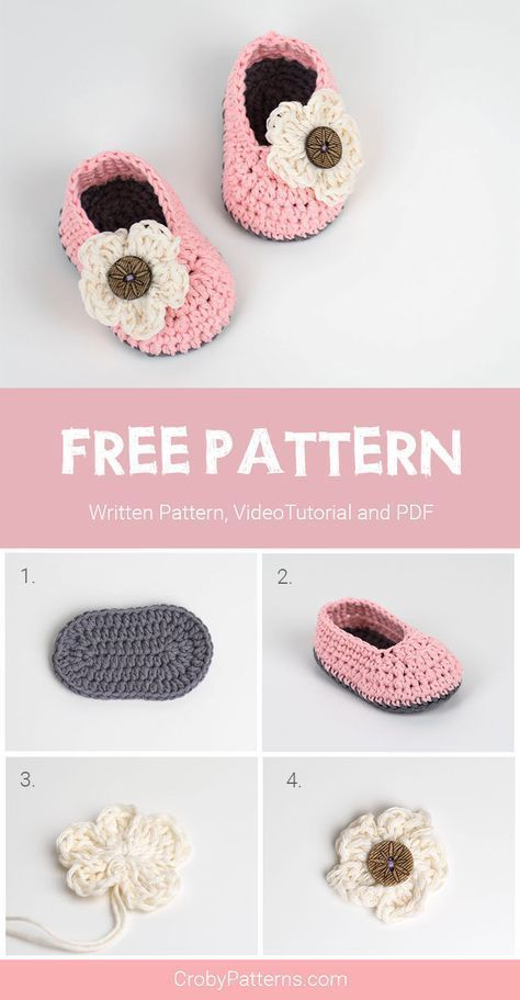 FREE Crochet Pattern for Baby Booties For Little Girls Available ...