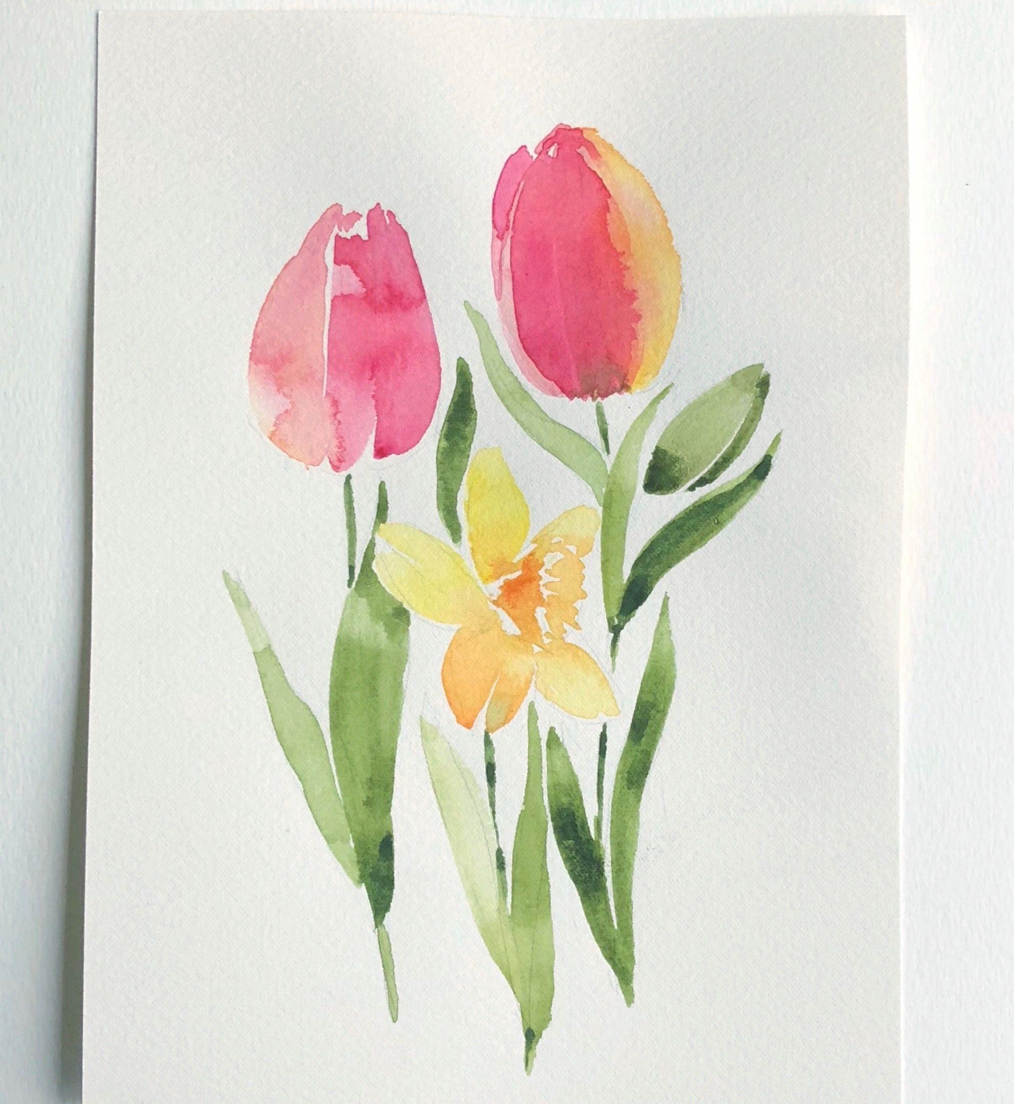 Pin Von Aikaterini Sigoura Auf Karten Blumen Aquarell Aquarell