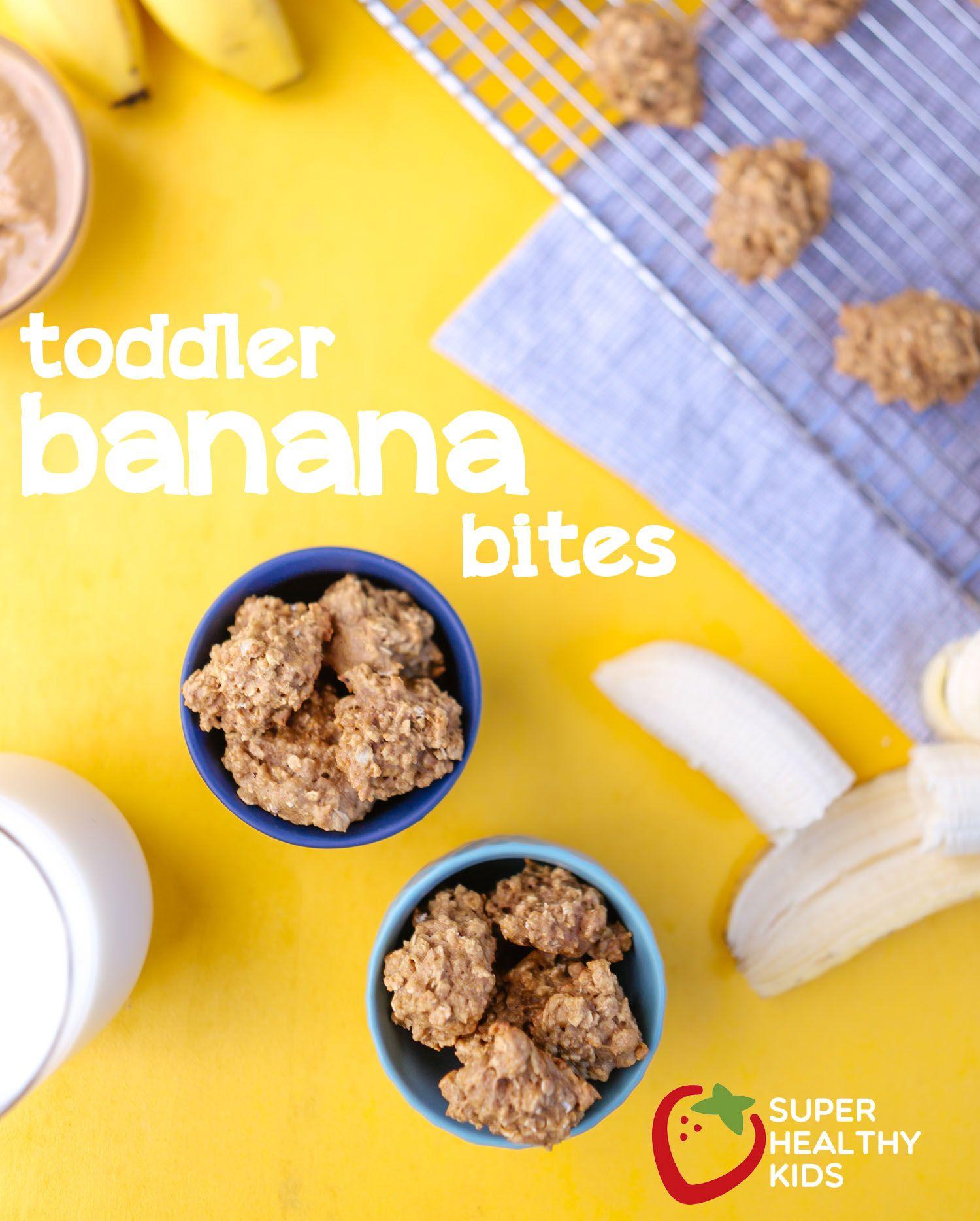 Babies Toddler Recipe Banana Bites Healthy Finger Food