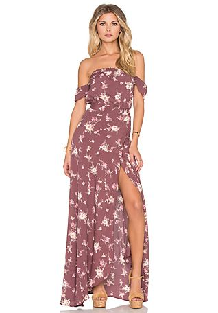 54154b69e88 maxi off the shoulder. FLYNN SKYE Bella Maxi Dress in Dangling Bouquet