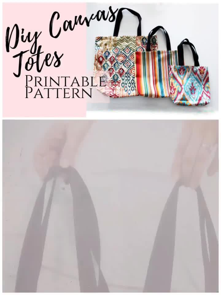 Photo of Make your own easy DIY tote bag with sewing pattern