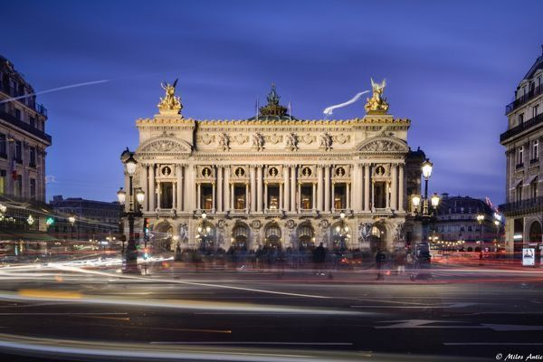 The Palais Garnier is a 1 979 seat opera house at the Place de l'Opera in the 9th arrondissement of Paris France Turned Ballet House it was build from 1861 to 1875 at the behest of Emperor Napoleon III