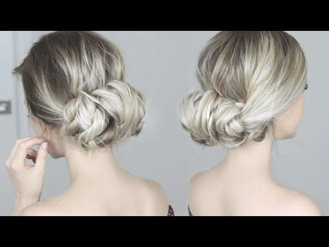 easiest updo ever super simple  perfect for long medium