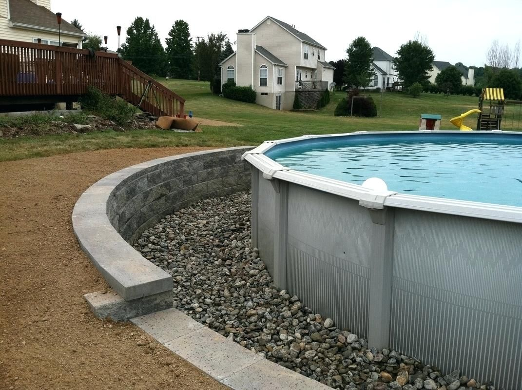 Pool Retaining Wall Retaining Wall Around Pool Round Designs Within Dimensions X Retaining Wall For Backyard Pool Landscaping Outdoor Remodel Pool Landscaping