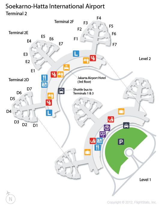 CGK SoekarnoHatta International Airport Terminal Map airports