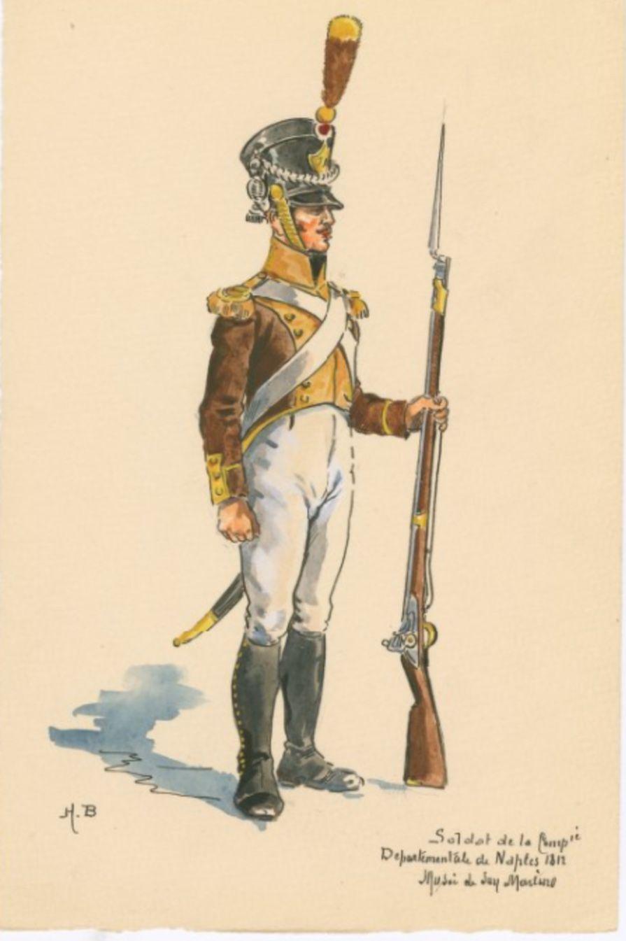 SOLDIERS- Boisselier: Soldat de la Compie. Departementale de Naples, 1812, by H. Boisselier.