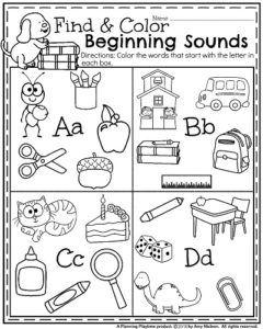 Back to School Kindergarten Worksheets | Kind, Kinder abc und September