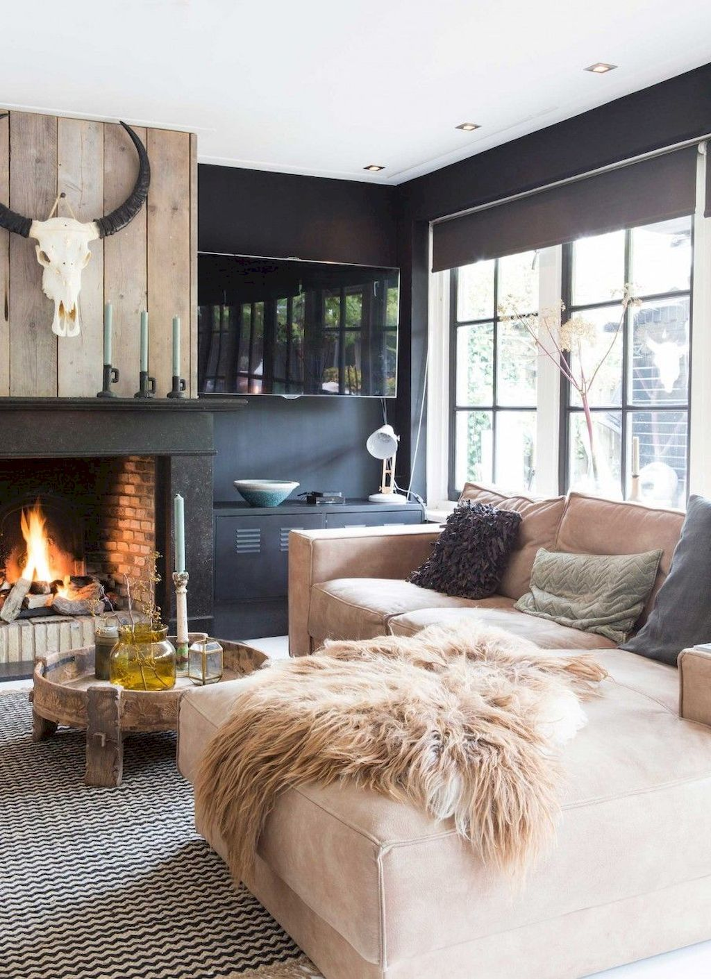 85 Cozy Modern Farmhouse Living Room Decor Ideas #modernfarmhouselivingroom