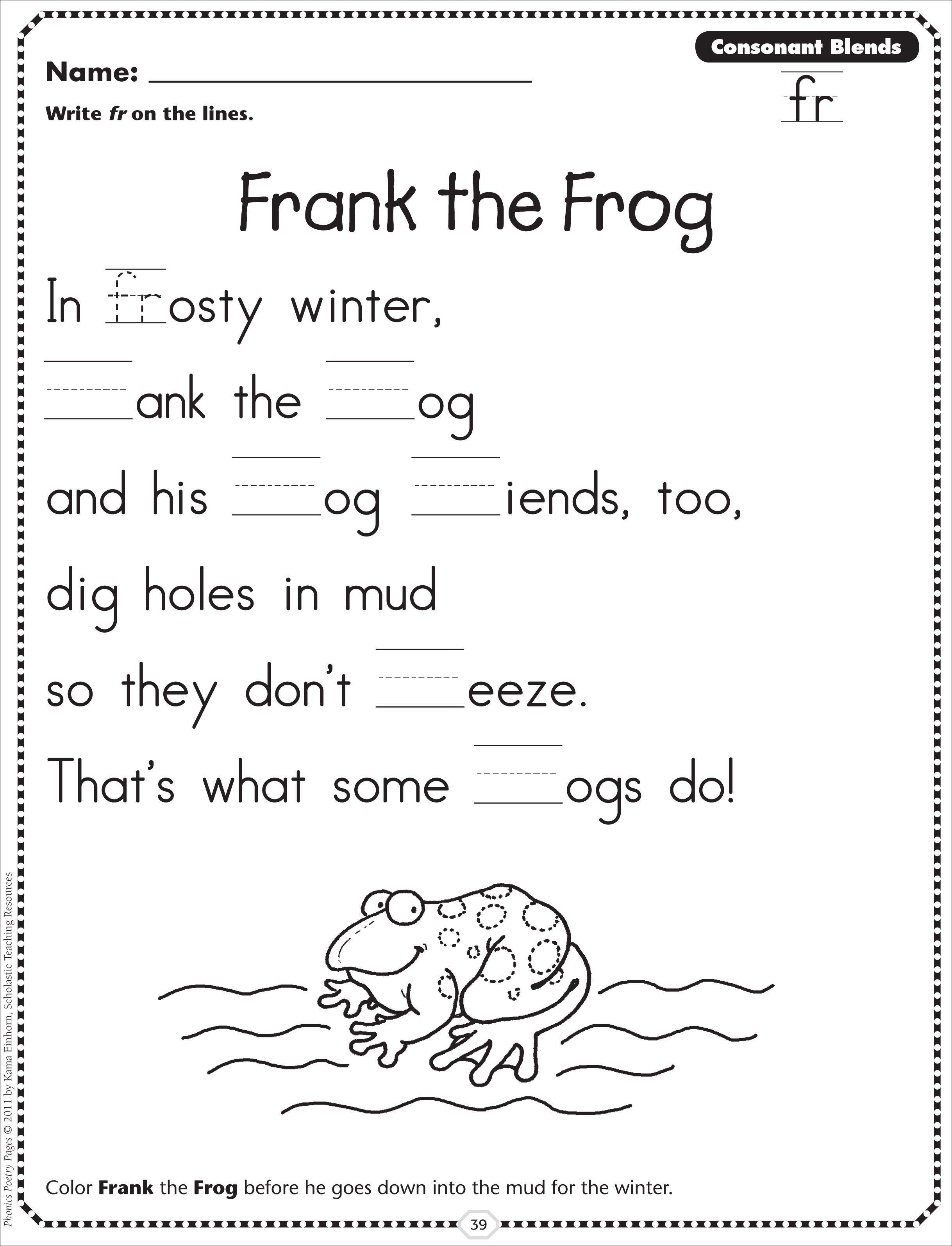 small resolution of Phonics Blends Worksheets