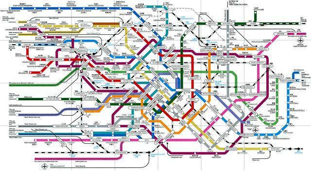 Tokyo Transit System Map Wanderings Pinterest Subway Map - Japan metro map