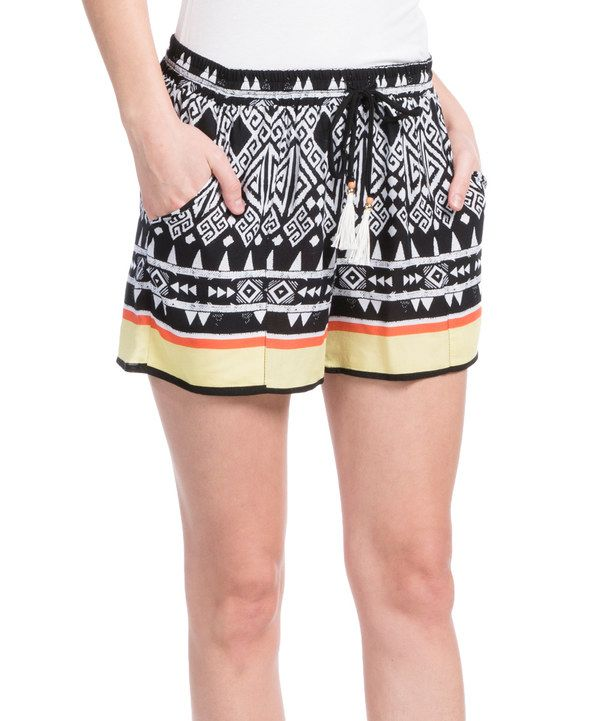 Look at this Green Dragon Black & Yellow Lounge Shorts on #zulily today!