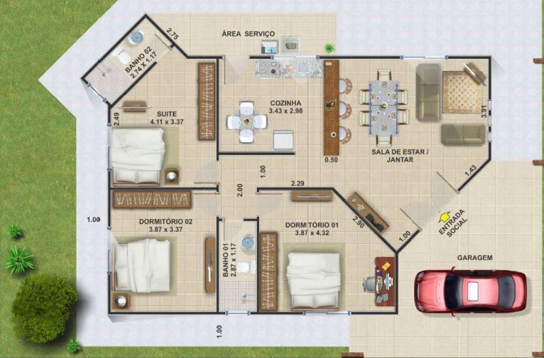 Casas baratas para construir proyecto pinterest - Planos de casas para construir ...