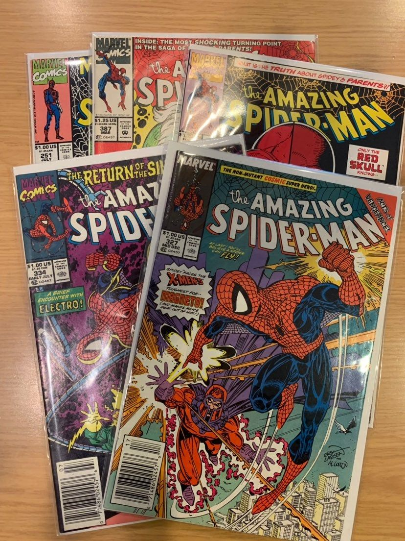 BAGGED /& BOARDED OF 5 SPIDER-MAN 1