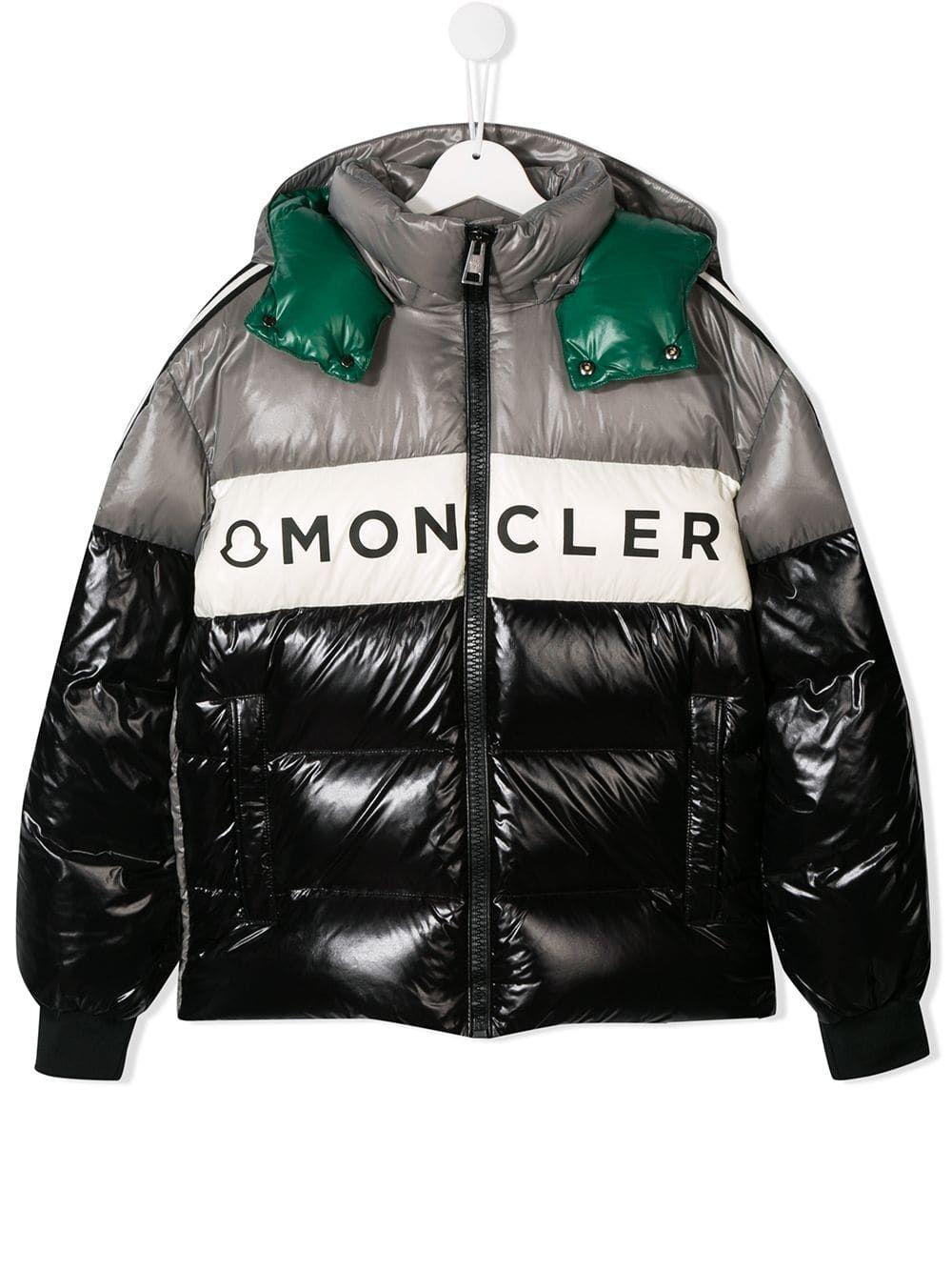 Moncler Kids logo padded jacket Black Padded jacket
