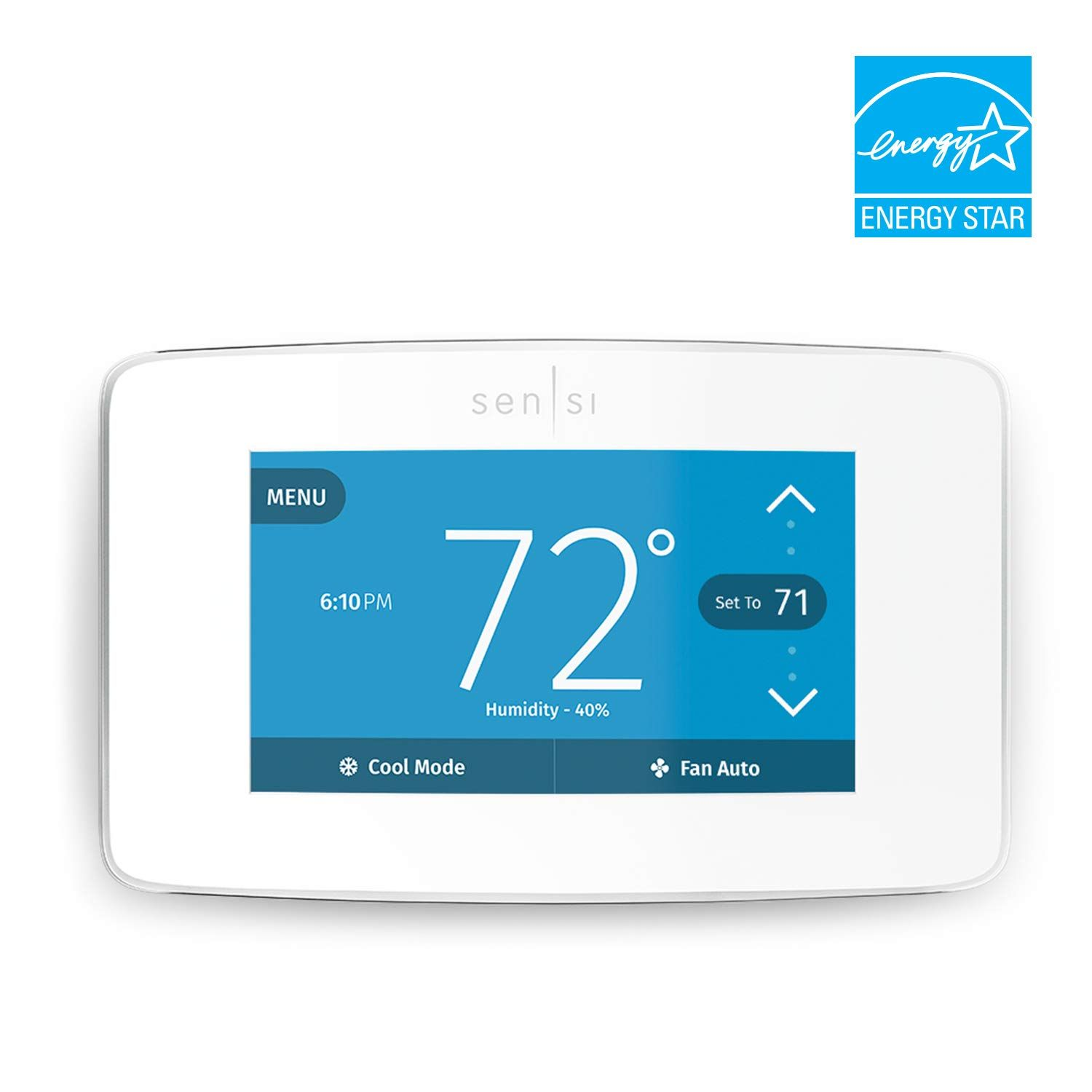 Emerson Sensi Touch Wi Fi Thermostat With Touchscreen Color Display White Energy Star Certified Works With Alexa Wink Smart Home Smart Thermostats