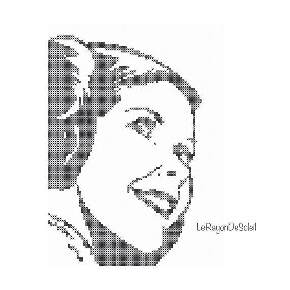 Star Wars princess Leia portrait Modern cross stitch pattern ...