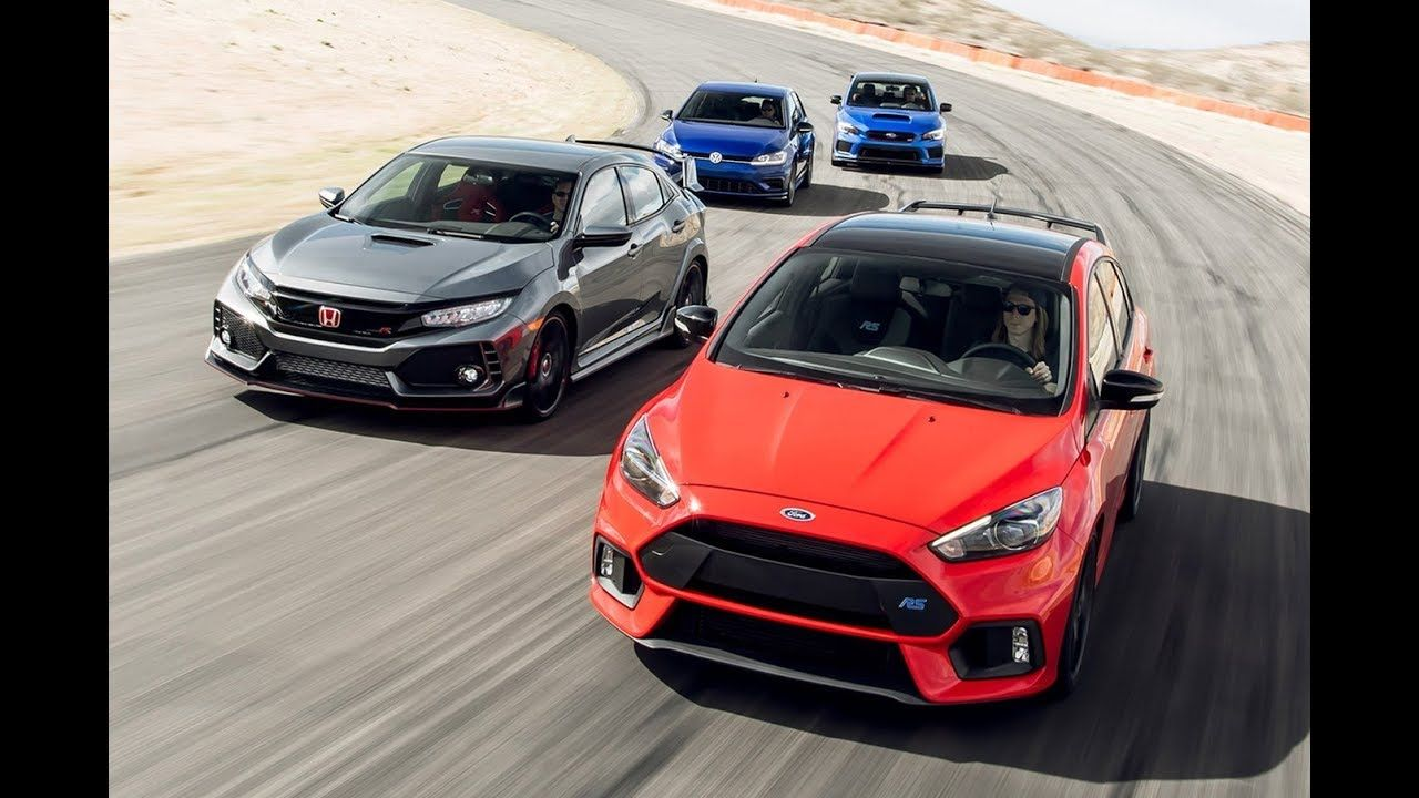 2018 Honda Civic Type R Vs Ford Focus Rs Vs Subaru Wrx Sti Type Ra Vs Vo Volkswagen Golf R Honda Civic Type R Subaru Wrx