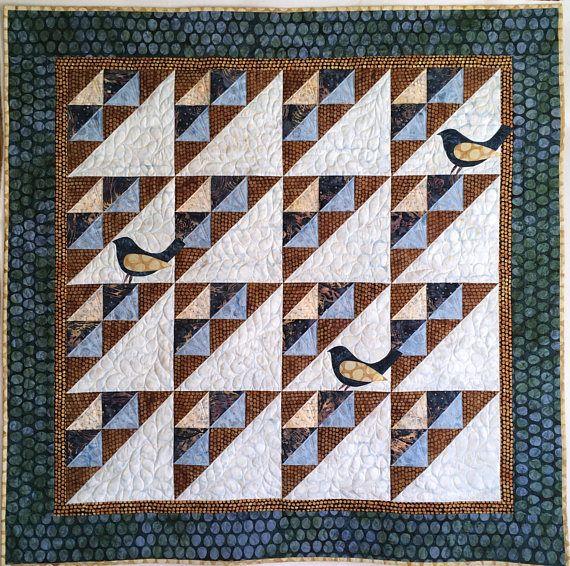 Beginner Quilt Pattern, Bird Wallhanging