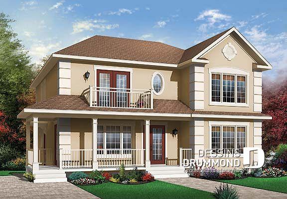 Vue avant - MODÈLE DE BASE du plan de maison multi logements W3031