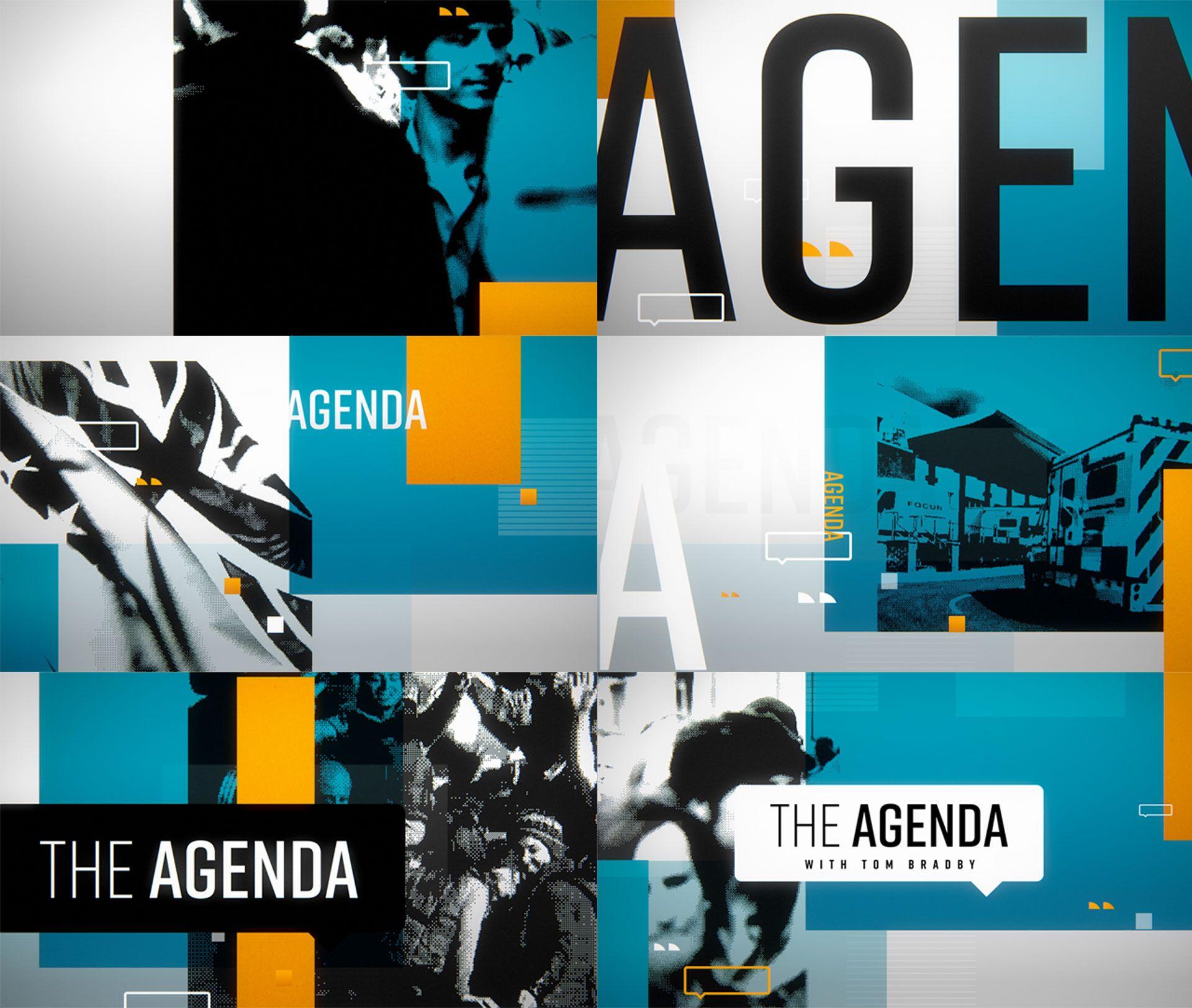 AgendaTitles  Branding  Identity  System    Motion