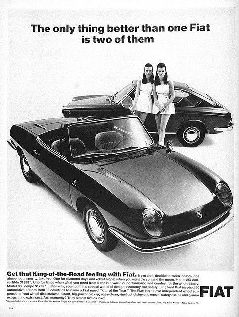 Vintage Advertisement With Images Car Ads Vintage Cars Fiat 850