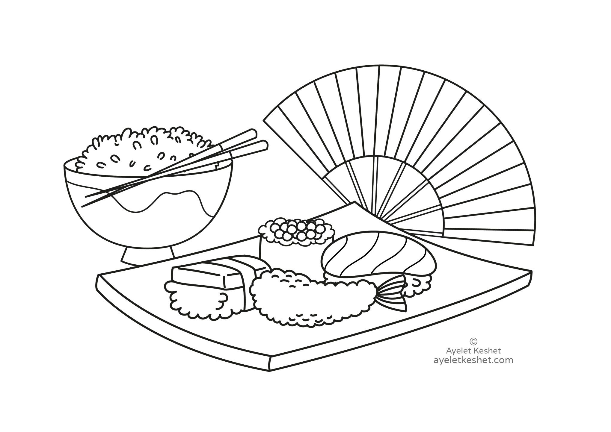 Free Coloring Pages About Japan For Kids Ayelet Keshet Japan For Kids Free Kids Coloring Pages Coloring Pages
