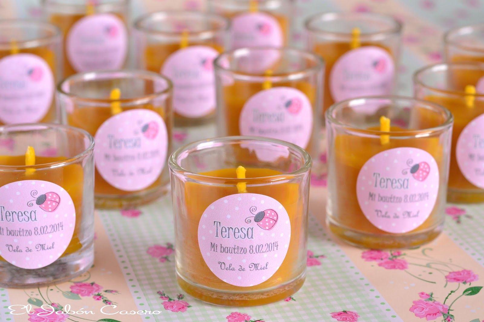 Velas de miel personalizadas detalles de bautizos bautizo o baptisms pinterest - Velas de miel ...