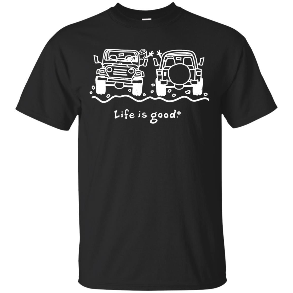 Life Is Good Jeep Shirt For Couple Jeep Shirts Couple Shirts