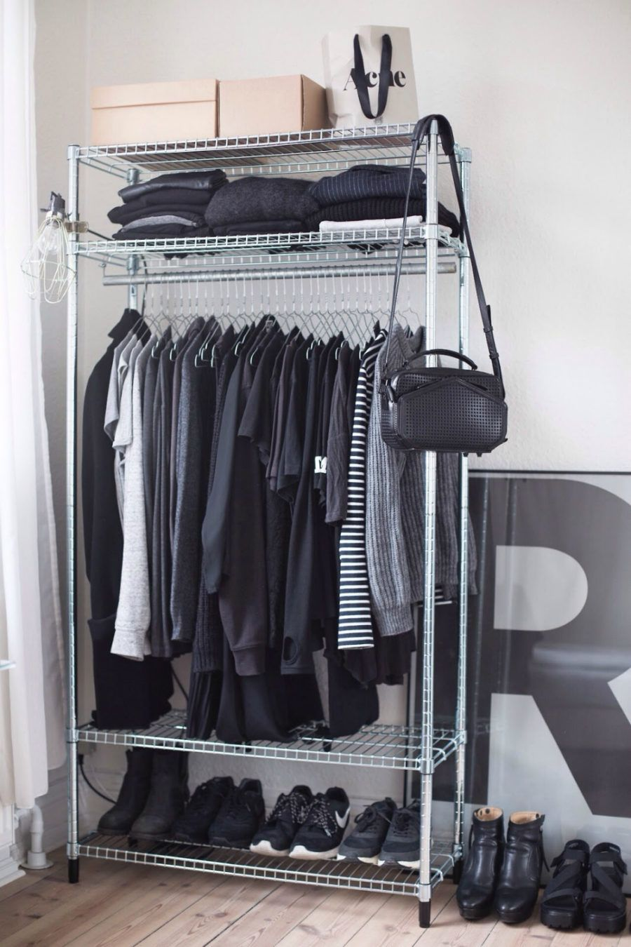 30 Chic And Modern Open Closet Ideas For Displaying Your Wardrobe Small Closet Space Open Closet Wardrobe Storage