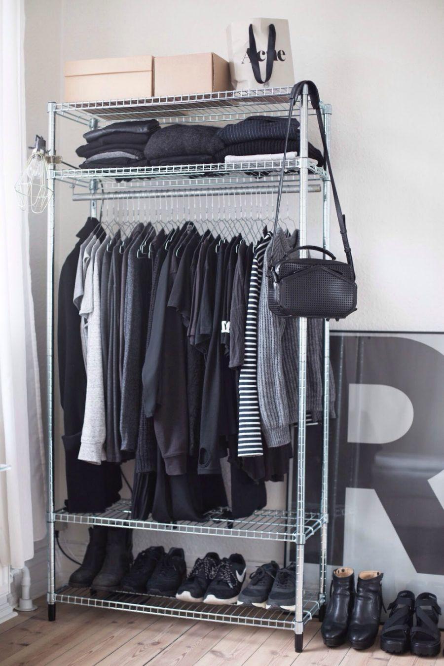 Http://shoproomideas.com/wp Content/uploads/2017/02/diy Open Concept Closet  Cothing Rack Wardrobe Display Modern Chic Minimalist Design Feminine Meu2026