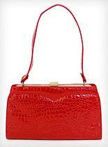 Crimson Croc Handbag at PLASTICLAND. oh i want this