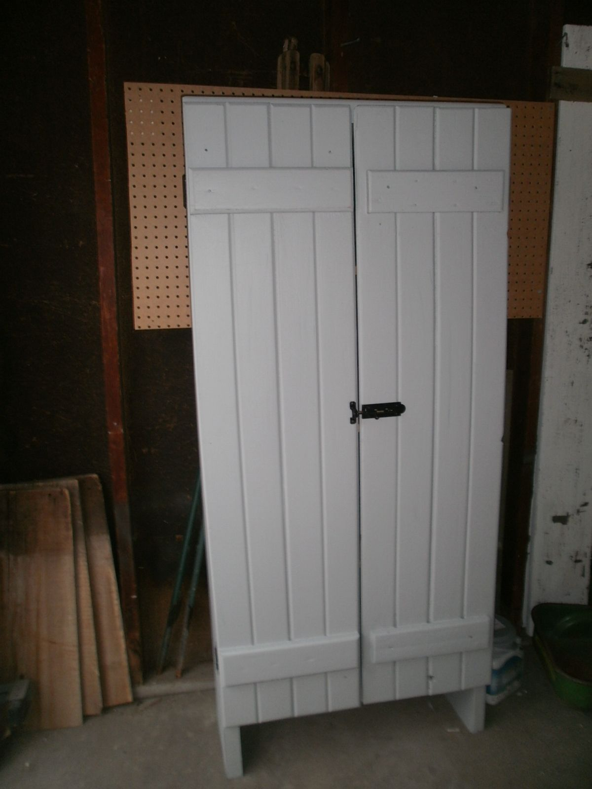 old wood shutters make great cabinet from www.mycreativedays.com