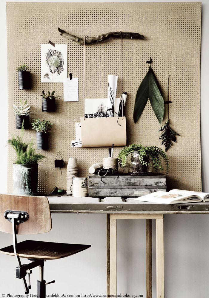 15 nature inspired home office ideas for a stress free on inspiring workspace with a cork wall creating a custom cork board for your home id=47535