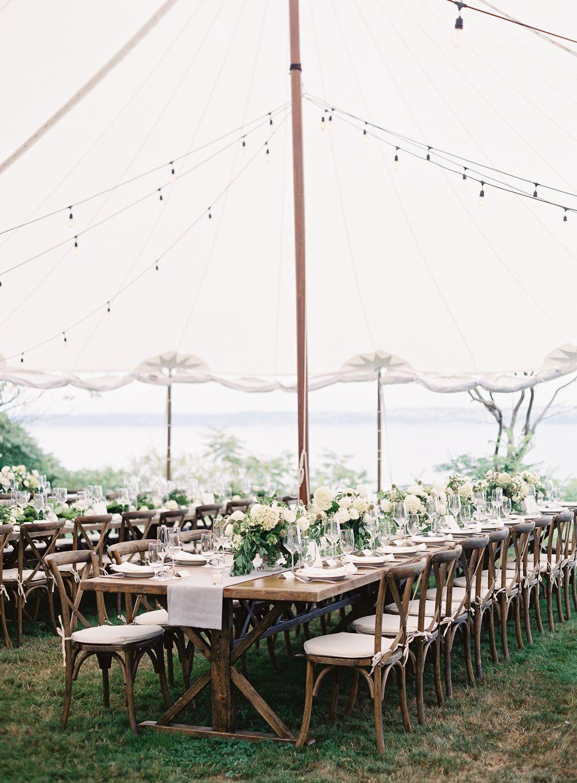 chic backyard wedding in washington - once wed   tents, wedding