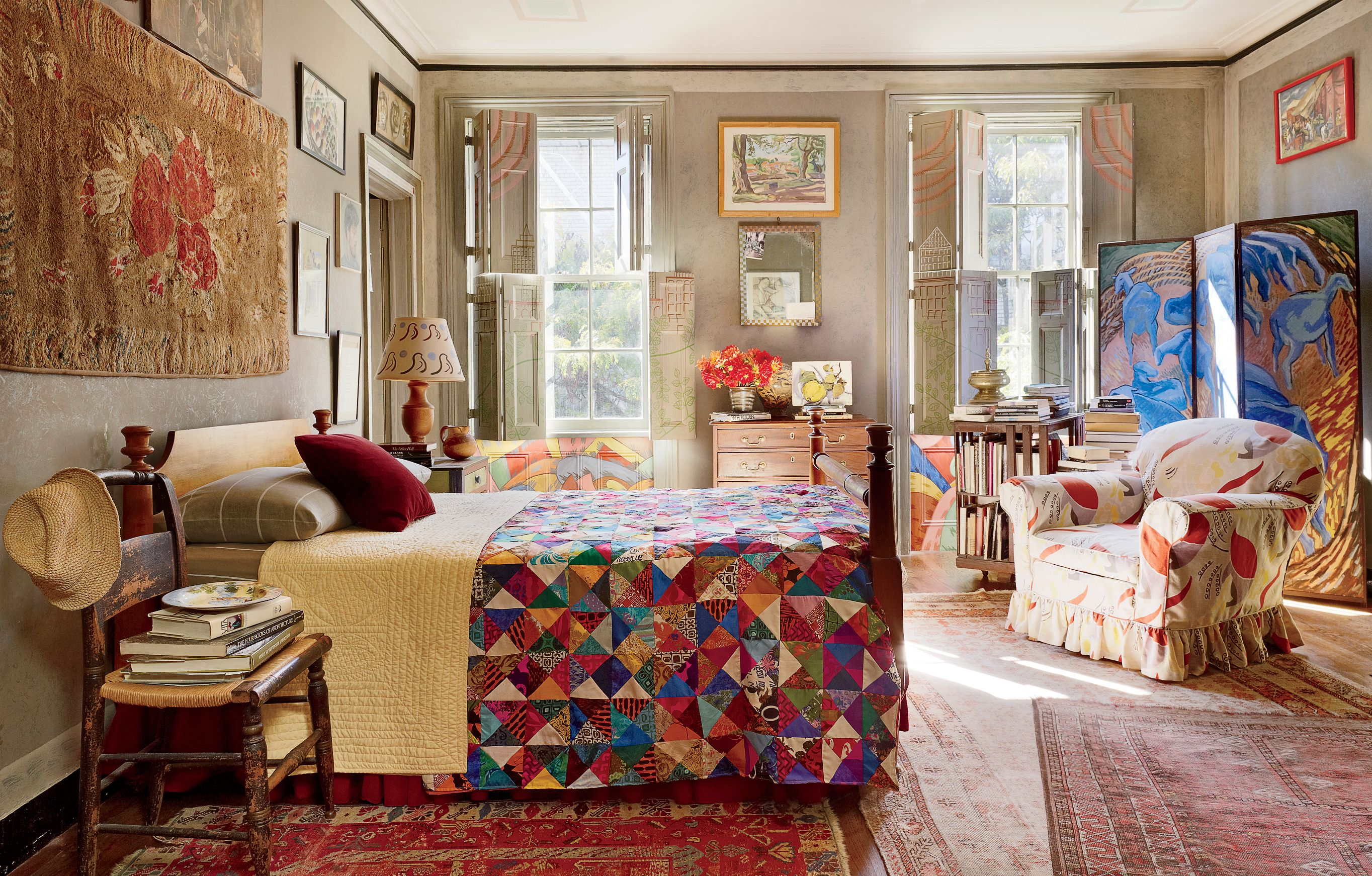 Traditional Bedroom by Andrea Anson via archdigest