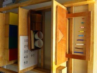 Montessori Bead Work, Golden Bead Work, Knobless Cylinders