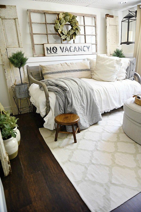 Farmhouse Guest Bedroom Makeover | Guest bedroom makeover ...