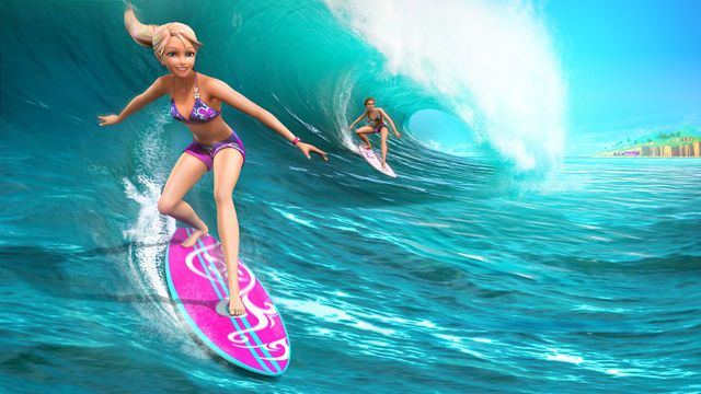 Merliah And Kylie Surfing Barbie Cartoon Mermaid Barbie Barbie