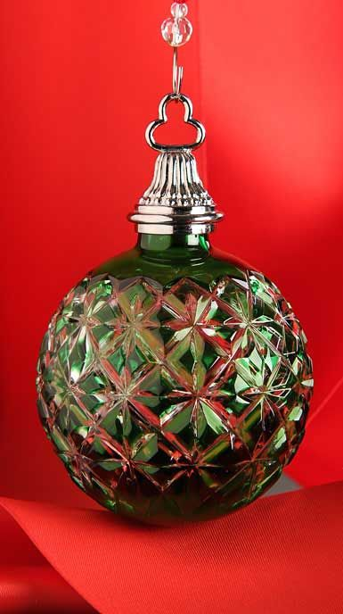 Waterford 2014 Annual Cased Ball Ornament, Emerald Christmas - christmas decors