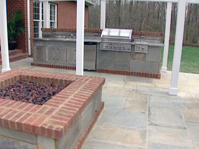 Kitchen And Fire Pit Outdoor Kitchen Outdoor Kitchen Kits Outdoor Countertop