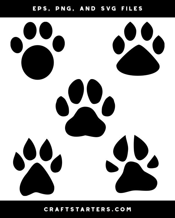 Dog Paw Print Silhouette Clip Art Silhouette Clip Art Dog Paw Print Clip Art