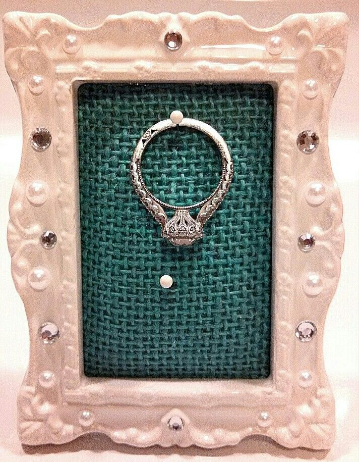 Picture frame ring holder - made from a mini picture frame from ...