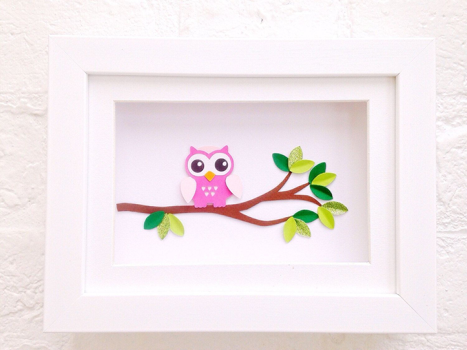 Unique baby girl gifts pink owl framed art wall art for baby pink owl gifts framed art new baby girl gift unique baby gift nursery decor for baby negle Image collections