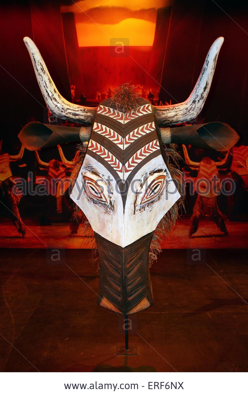 Wildebeest Stampede Mask On Display At The Inside The