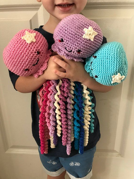 Crochet Octopus Crochet Jellyfish Toy for Preemie Sea Themed Room Decor