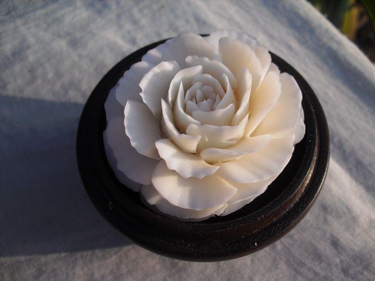 Hand-Carved Thai Soap Rose Flower
